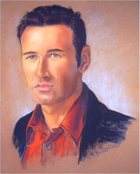 portrait homme au pastel