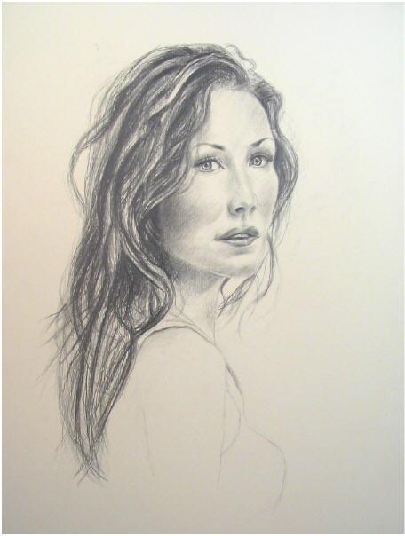 Bekannt dessin portrait au crayon - agrandissement image RO66